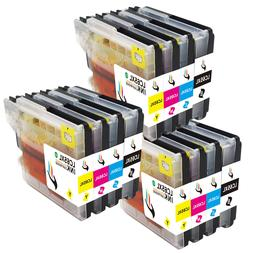 12 PCS LC61 LC65 Ink Cartridge Set for Brother MFC-490CW 495