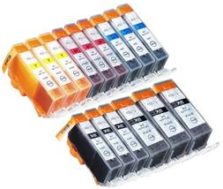 15 Pack with CHIP Non-OEM Ink for PGI-225 CLI-226 Pixma ip48