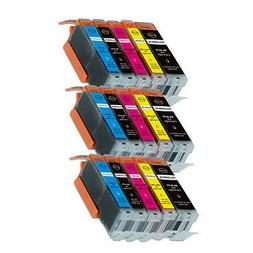 15PK Combo Printer Ink chipped for Canon 250 251 MG6600 MG66