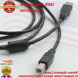 2.0 USB A Male to B Male Printer Cable  - High-Speed with UL