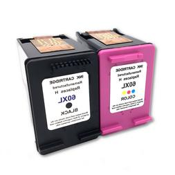2 Pack 60XL Ink Cartridge Combo For HP 60 Photosmart D110a F