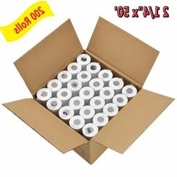 """200 Rolls 2 1/4"""" x 50' Thermal Receipt Paper Roll for Mobile"""