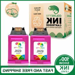 2pk color 65xl ink cartridge for hp