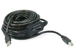 30 Feet USB 2.0 Cable for Printer, Scanner USB A Male to USB