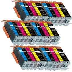 30PK Combo Printer Ink chipped for Canon 250 251 MG6600 MG66
