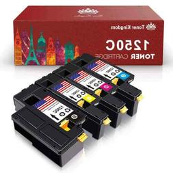 4 New High Yield 1250 Toner Cartridges Color Set For Dell 13