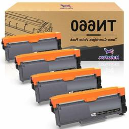 4 X High Yield Black Toner Cartridge for Brother TN660 TN630