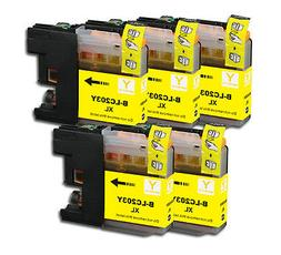5 YELLOW Printer Ink with chip for Brother LC203 XL MFC J460