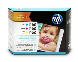 HP J2X80AN 564 Ink Cartridges Color, 3 Cartridges & Photo Pa