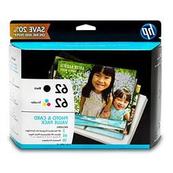 HP K3W67AN 62 Black & Tri-Color Original Ink Cartridges with