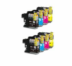 8PK Printer Ink Set w/ Chip for Brother LC201 LC203 XL MFC J