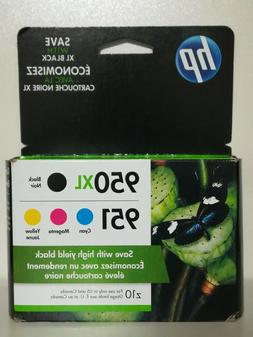 HP 950XL Black/951 Tri-Color  Inkjet Cartridge Four Pack