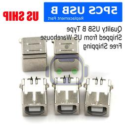 Brand New! 5 pcs USB Port 2.0 Connector Type-B Female Replac