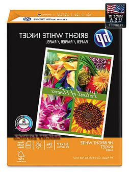 "HP Bright White Inkjet Paper, 24lb, 97 Bright, 8-1/2 x 11"" -"
