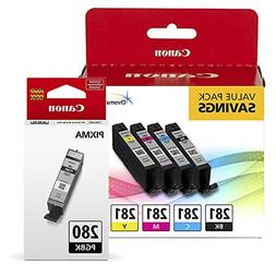 Canon CLI-281 BKCMY 4-Color Ink Tank Value Pack  + Canon PGI