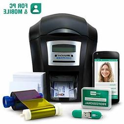 Complete ID Card Printer Bundle: AlphaCard Compass ID Printe