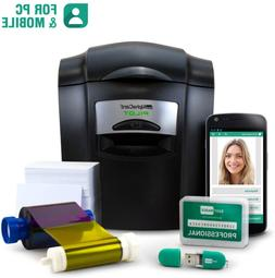 Complete Id Card Printer Bundle: Alphacard Pilot Id Printer,