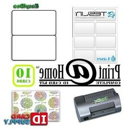 Complete Print @ Home Kit | Makes 10 PVC Like ID Cards | for