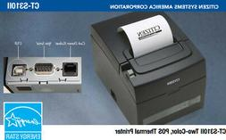 CT-S310II-U-BK Citizen Thermal POS USB & Serial Printer Auto