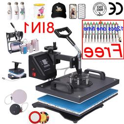 doubl display 30*38CM 8 in 1 Combo Heat press Machine <font>