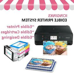 Edible Canon Printer Bundle with 5 Ink Cartridges and Free I