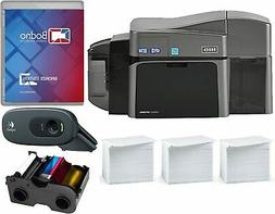 Fargo DTC1250e Dual Sided ID Card Printer & Complete Supplie