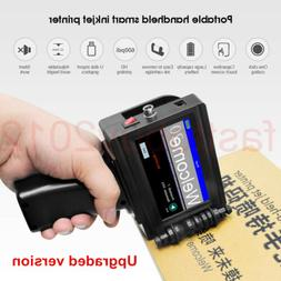 Handheld Inkjet Printer 600DPI Ink Date Words QR Code Barcod