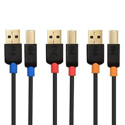 Cable Matters 3-Pack USB 2.0 A to B USB Printer Cable - 3 Fe