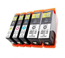 ESTON 5 PACK Ink Cartridge Replacement For Dell Series 31XL