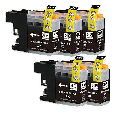 5 new black printer ink for brother