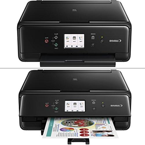 Canon PIXMA All-in-One Compact Inkjet Printer with Print, Scan, + Set Tanks Cable Photo Sample + 2 Gentle Cloths