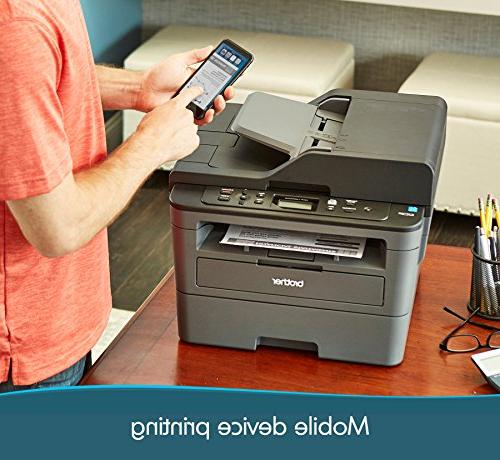 Brother Compact Multifunction Copier, DCPL2550DW, Wireless Duplex 50-Sheet Feeder, Amazon Dash