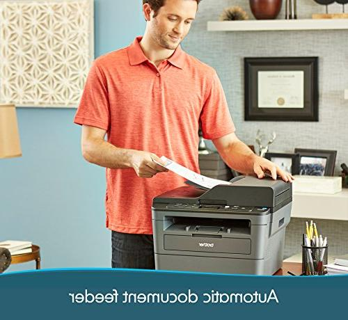 Brother Compact Multifunction Printer and Copier, Wireless Printing, Duplex Printing, 50-Sheet Document Dash Replenishment Enabled