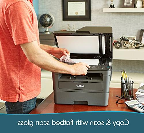Brother Printer, Compact Multifunction Printer and Copier, DCPL2550DW, 50-Sheet Feeder, Amazon Dash Enabled
