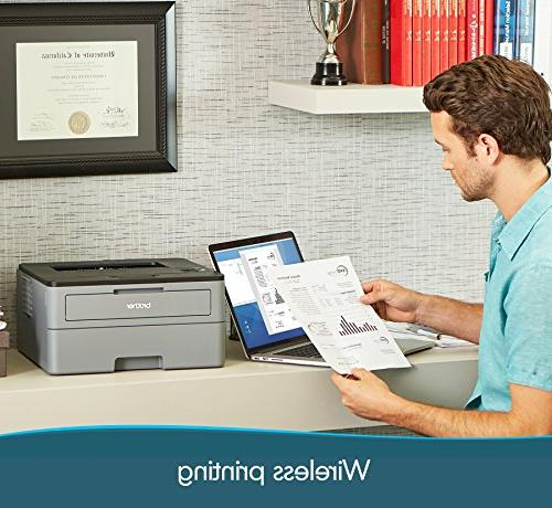Brother Compact Laser Printer, HL-L2350DW, Wireless Duplex Two-Sided Dash