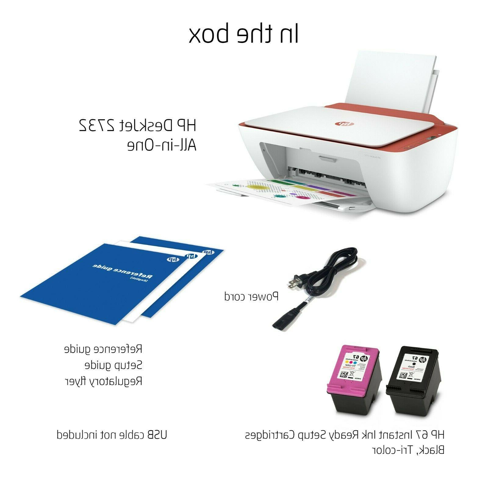 HP 2732 Printer All One 6 Month Ink Terra
