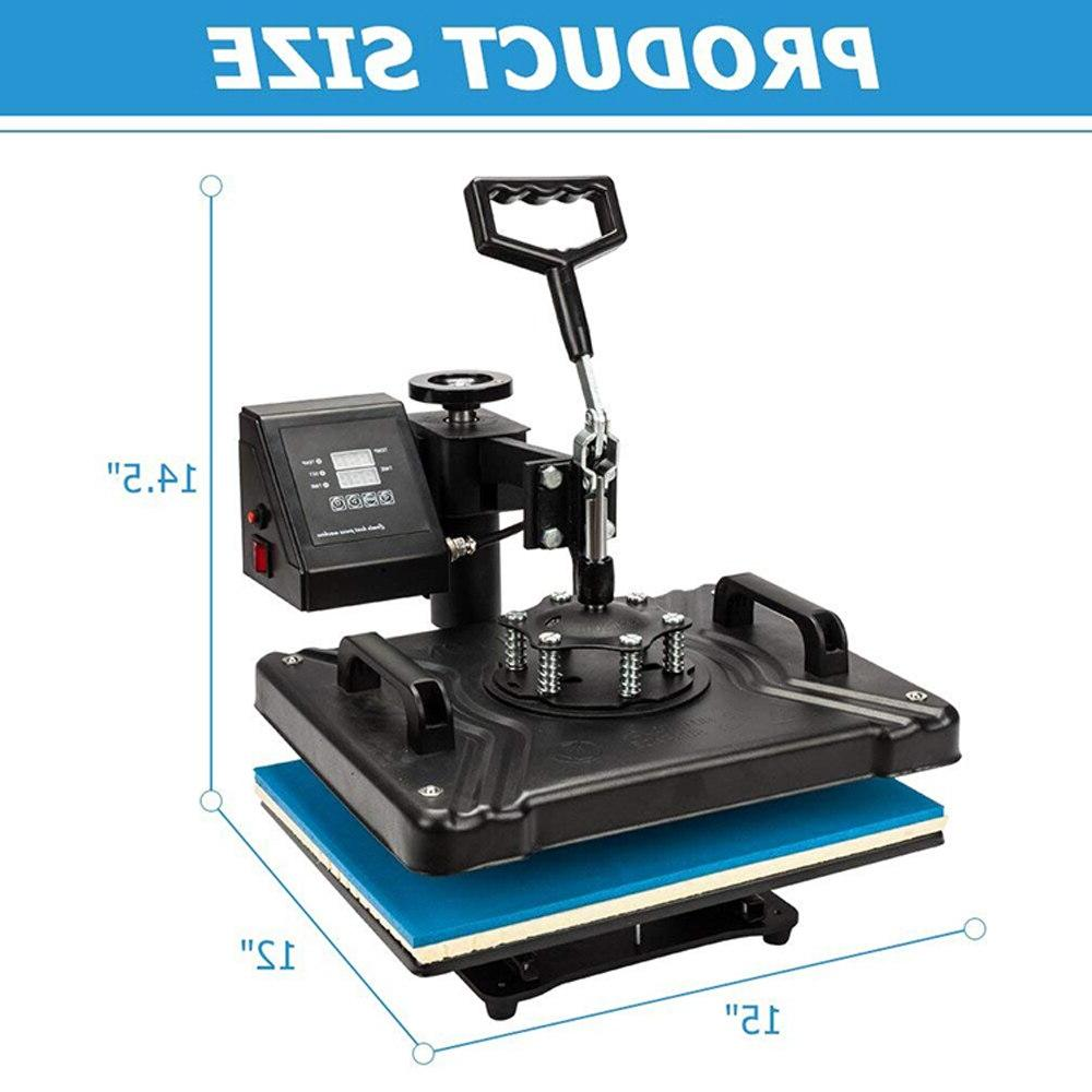 doubl display 30*38CM 8 in Combo press Machine <font><b>Sublimation</b></font> 2D Heat for Cap Tshirts CE