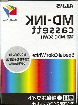 Alps MD Printer Ink Cartridge - White  MDC-SCWH - Replaces 1