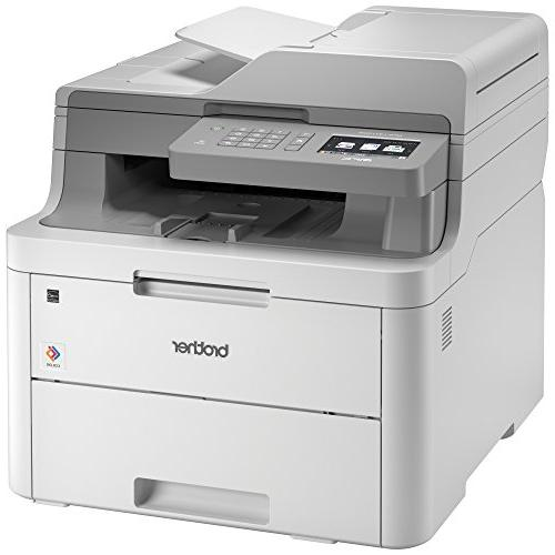 Brother MFC-L3710CW Compact Color All-in-One Printer Laser Quality with Wireless, Amazon Replenishment Enabled