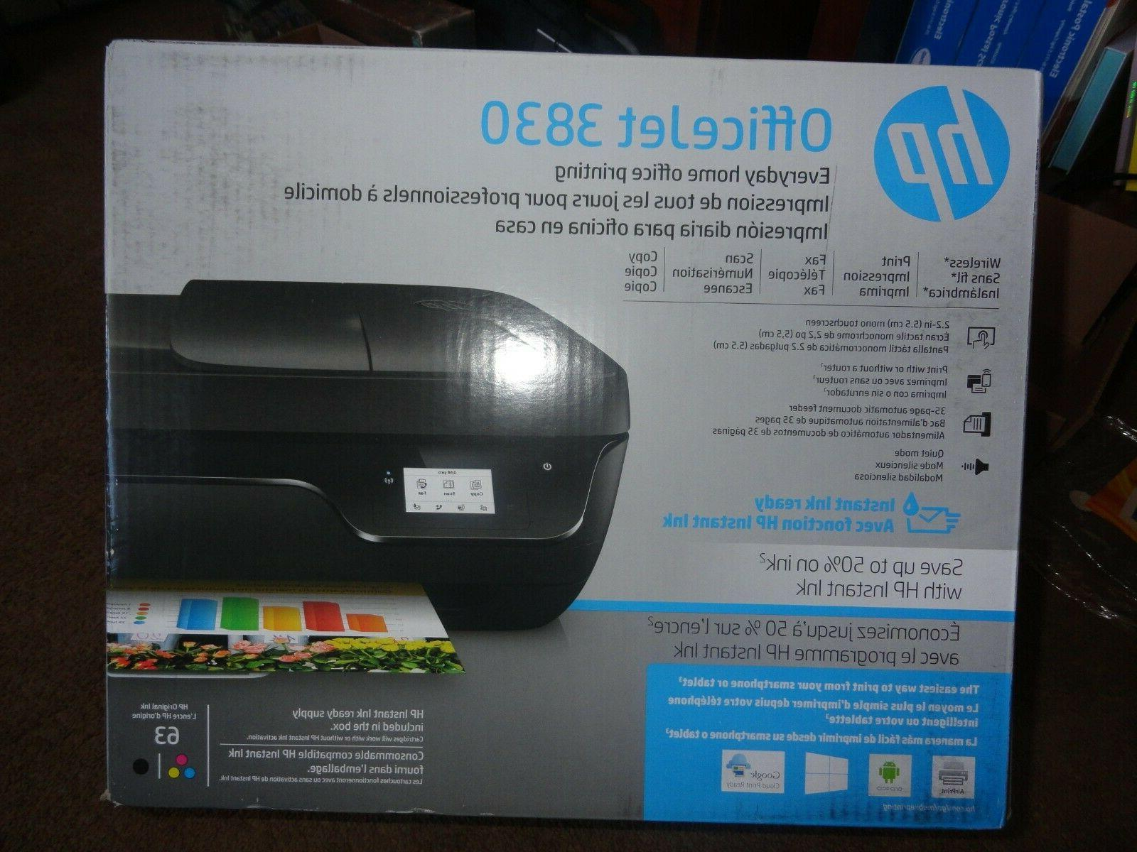 officejet 3830 all in one printer print