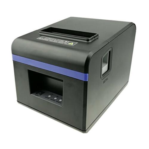 POS Thermal Receipt Printer Ethernet Network Port With Power