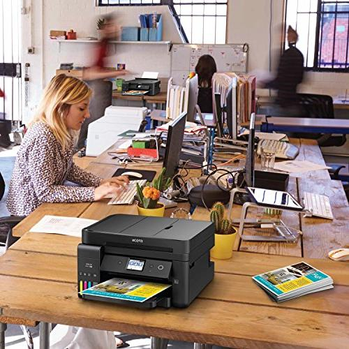 Epson WorkForce ET-4750 Wireless Color Supertank Printer with Fax and