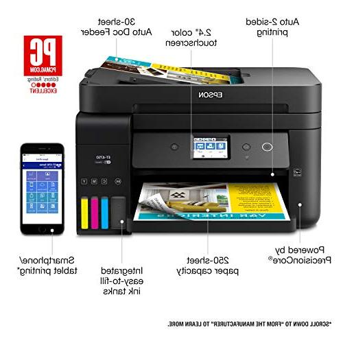 Epson WorkForce ET-4750 EcoTank Wireless All-in-One Printer with Fax Ethernet