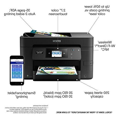 Epson Wireless Color Printer, Copier, with Wi-Fi Replenishment