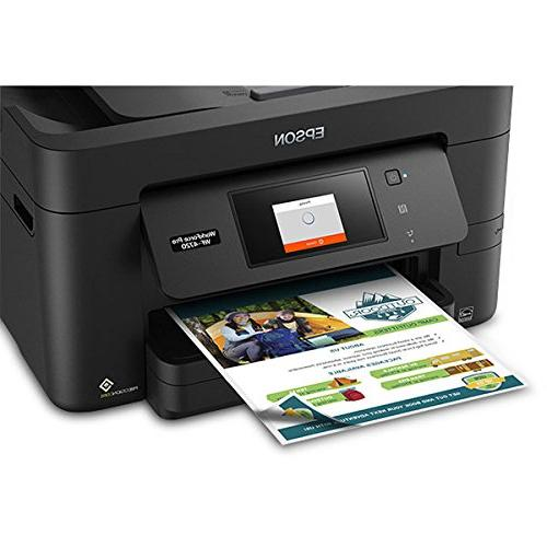Epson Workforce Pro Wireless All-in-One Printer, Copier, Scanner with Wi-Fi Replenishment