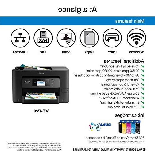 Epson Workforce Pro Wireless All-in-One Printer, Scanner with Wi-Fi Direct, Amazon Replenishment