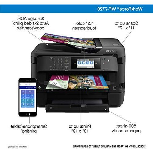 Workforce Wireless Wide-Format Color Inkjet with Copy, Direct and Amazon Dash Replenishment