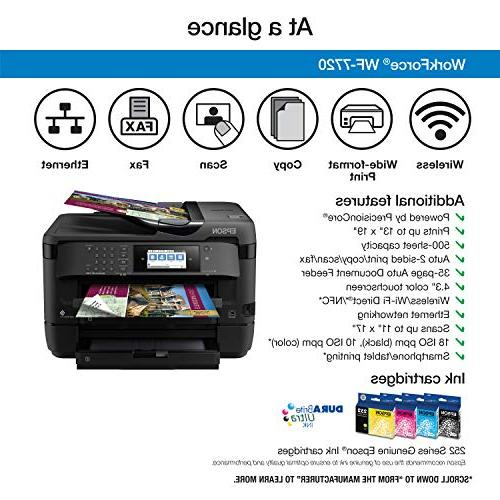 Workforce WF-7720 Color Copy, Fax, Wi-Fi Direct and Dash Enabled