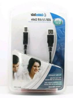 New USB Cable 2.0 A/B 6.5 foot for Printers Scanners CablesT