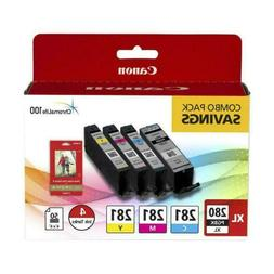 Canon PGI-280 XL / CLI-281 4 Color Pack for Pixma Inkjet Pri